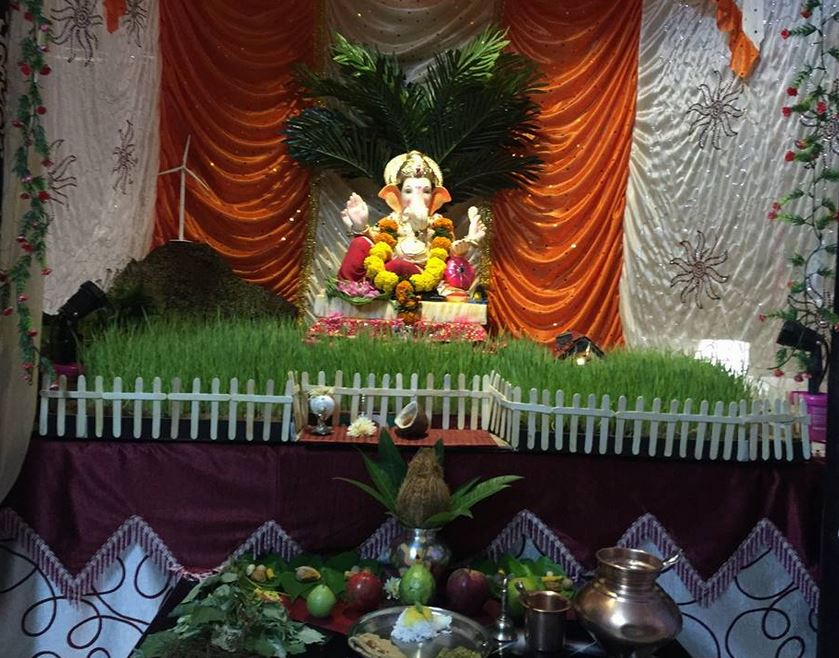ideas at home ganesh pooja decoration pooja room decor for ganesh