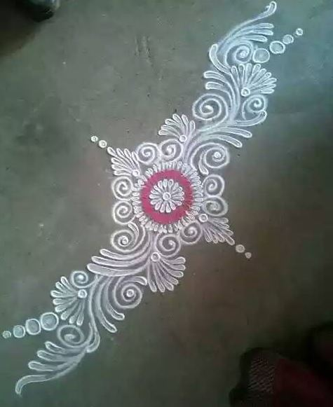 Rangoli Designs without Dots and Colour