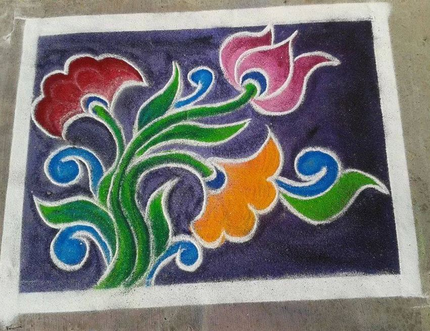 Free Hand Rangoli Designs Rangoli Rangoli Designs Rangoli Patterns Designs Indian