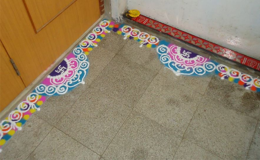 Easy Border Rangoli Designs