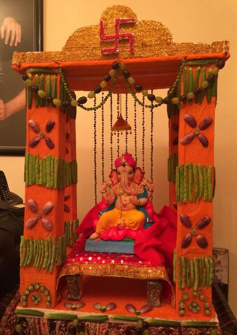 ganpati decoration ideas at home ganesh pooja decoration pooja