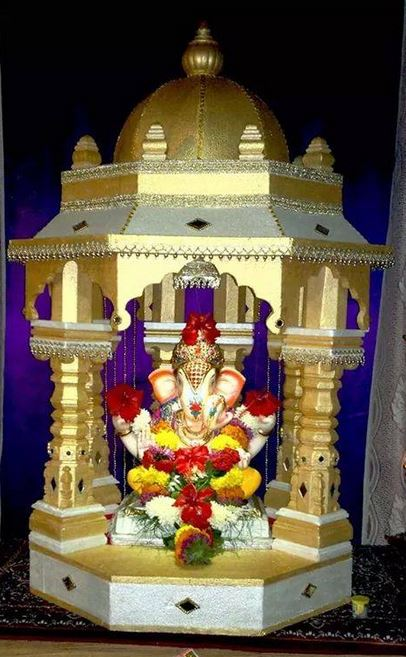 Ganpati Decoration Ideas For Home : Ganpati decoration ideas for ganesh