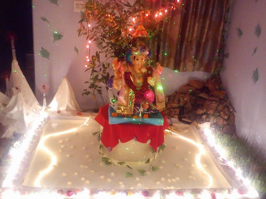 Water Theme Ganpati Decoration Ganpati Decoration Ideas