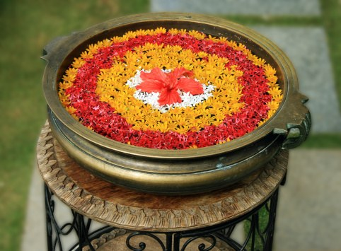 Water Rangoli Decoration