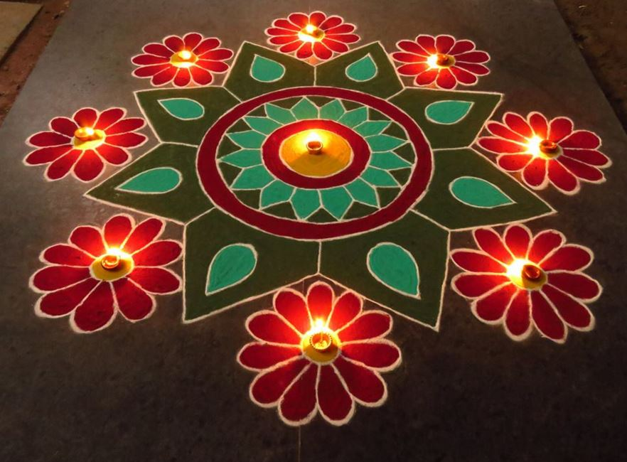 Simple Kolam Rangoli Designs