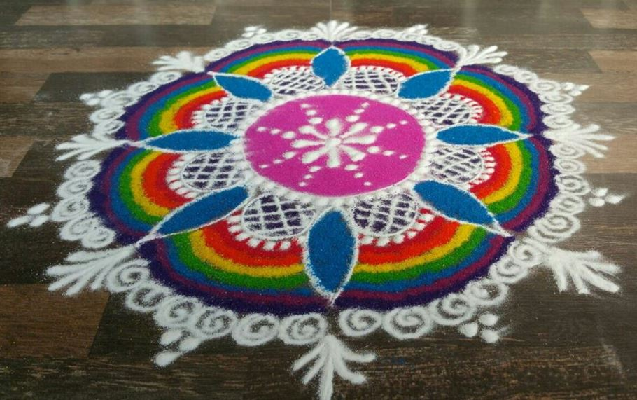 Happy New Year Best Rangoli 99