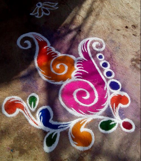 Simple Rangoli Design Rangoli Rangoli Designs Simple Easy Rangoli Diwali Rangoli Designs