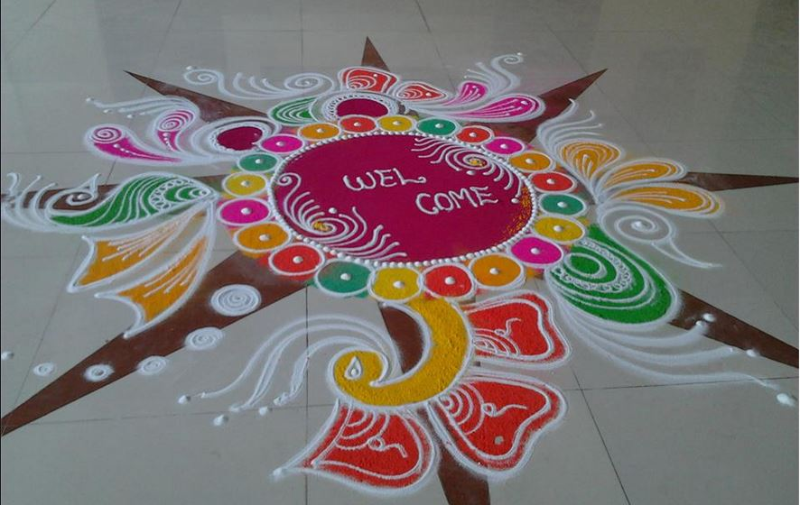 Free Hand Rangoli Designs and Patterns for Diwali