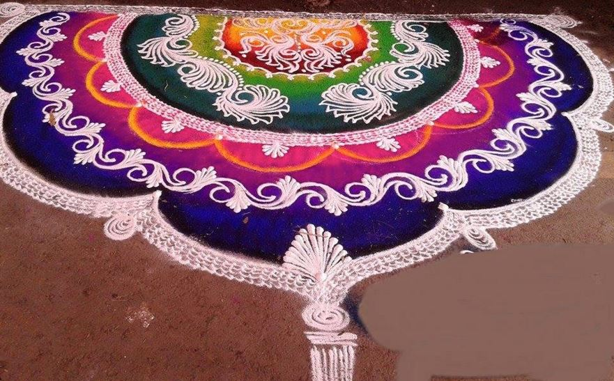 Sanskar Bharti Rangoli Designs and Patterns for Diwali