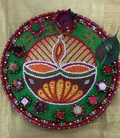 Aarti Thali Decoration for Competition