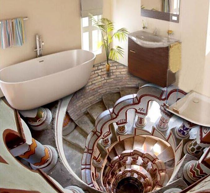 Trusted Home Painting Services In India: 3D Bathroom Floor - Bathroom