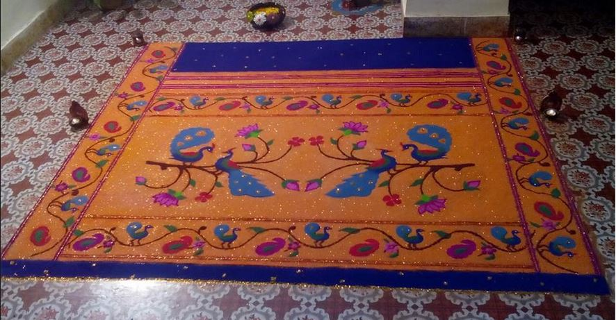 Rangoli Designs without Dots for Competition