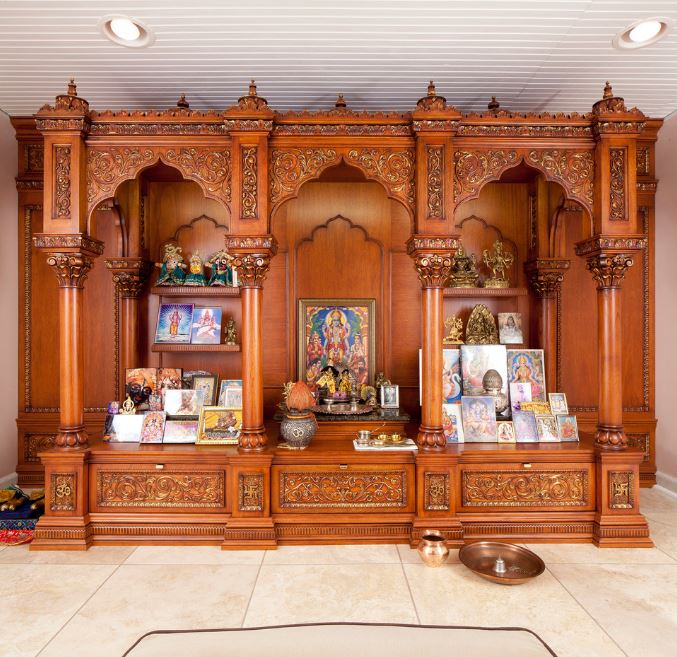 Wooden pooja mandir designs pooja pooja room pooja mandir pooja mandir designs wooden for Design of mandir in living room